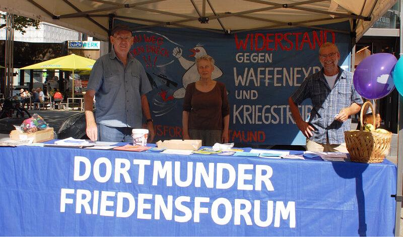 Infostand Dortmunder Friedensforum