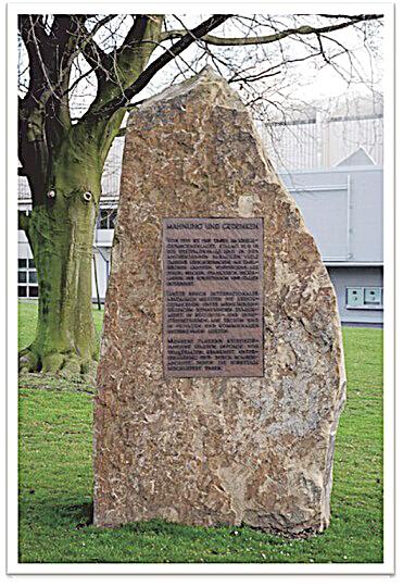 Gedenkstein an der Westfallenhalle Dortmund