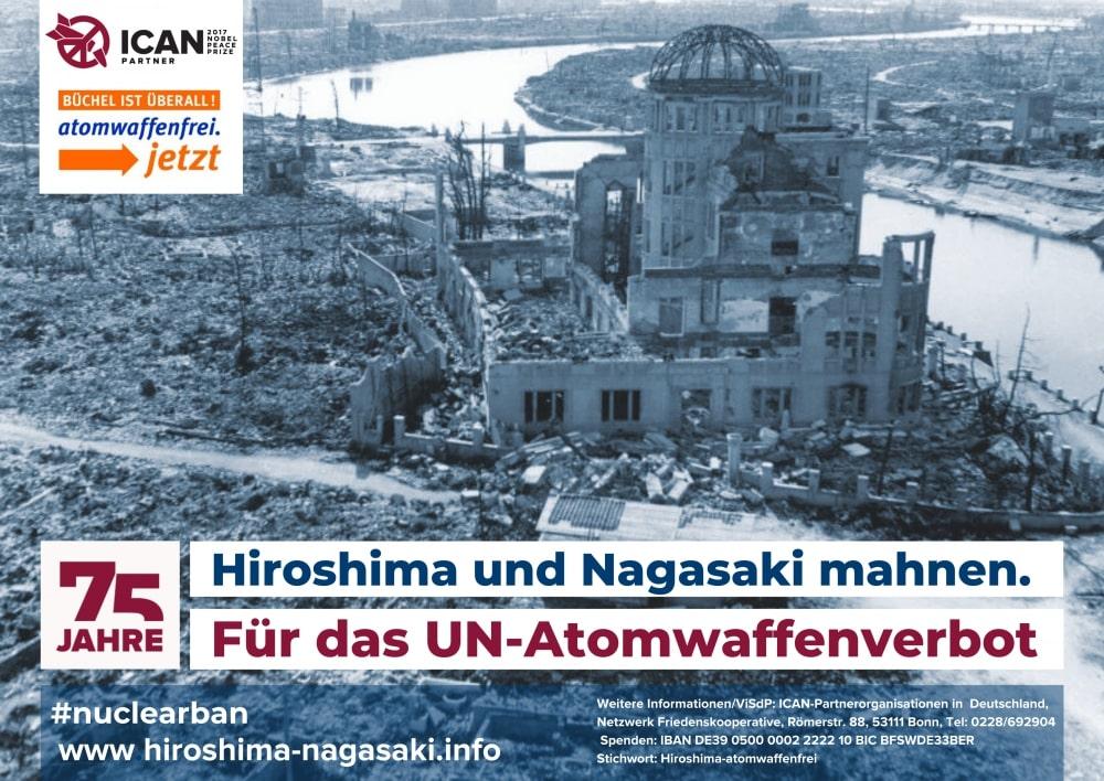 "Plakat "" Hiroshima und Nagasaki mahnen"""