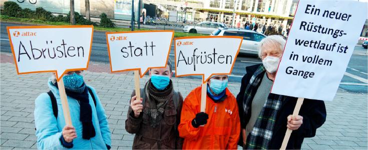 """Unser Beitrag zum bundesweiten dezentralen Aktionstag """"Abrüsten statt aufrüsten"""" 1"""