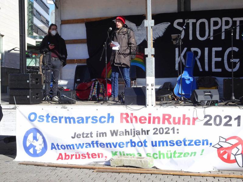 Abschluss Ostermarsch Rhein-Ruhr 2021 in Dortmund 12