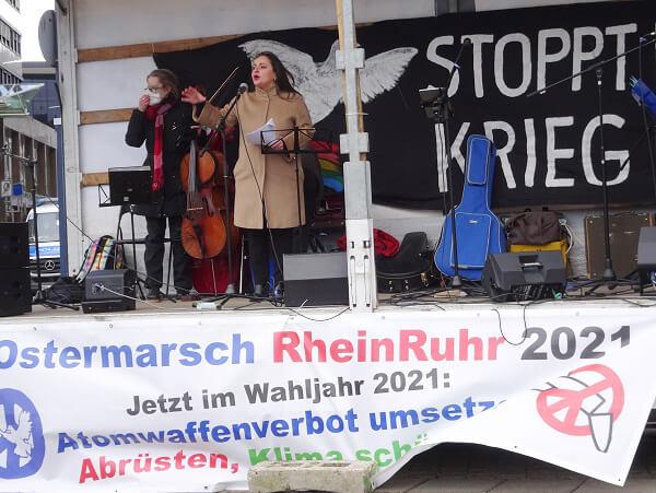 Abschluss Ostermarsch Rhein-Ruhr 2021 in Dortmund 2